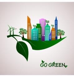 Go green design template Eco concept vector image