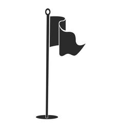 Golf flag silhouette vector