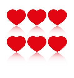 hearts love icons vector image