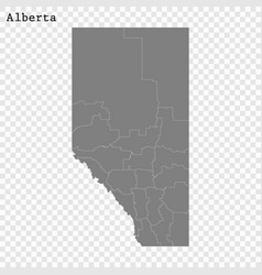 High quality map province canada vector