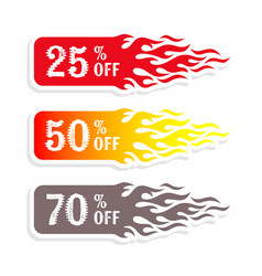 Hot sale banners 50 percent off tag vector