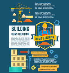 house construction and building poster vector image