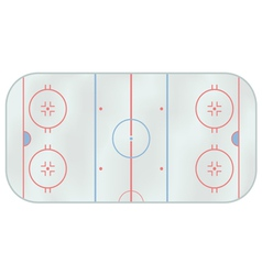 Ice hockey rink vector