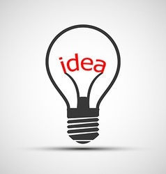 Icons light bulb with the word idea vector