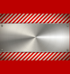 industrial background with metal blank plate on vector image