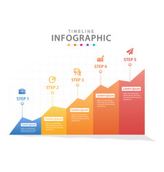 infographic template for business 5 steps modern vector image