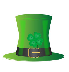 irish green top hat vector image