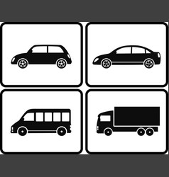 isolated cars in frame vector image