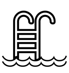 isolated pool ladder icon vector image
