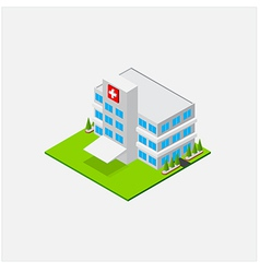 Isometric Small Hospital healty and medical center vector image