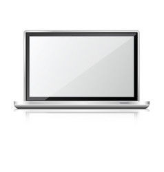 laptop realistic vector image
