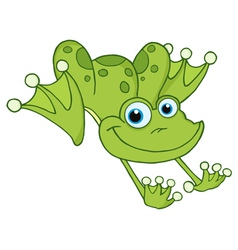 Leaping Green Frog vector image