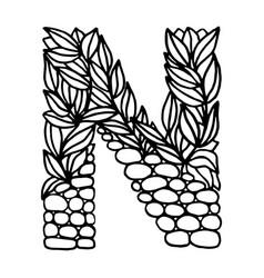 Letter alphabet n vector