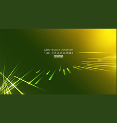 lines abstract with light on green background vector image