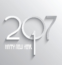minimilistic happy new year background 1510 vector image