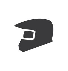 motorbike helmet icon vector image