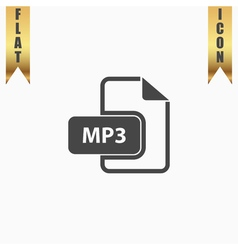 MP3 audio file extension icon vector image