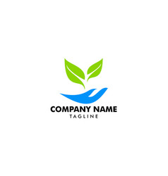 nature care logo template vector image