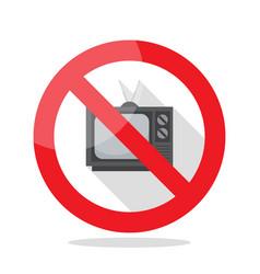 no television sign vector image