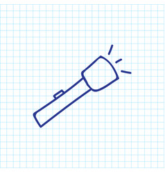 Of camping symbol on torch vector