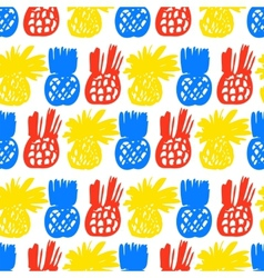 Pattern with pineapples vector image