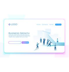 people business growth arrow at the top vector image