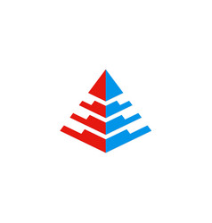 Pyramid 3d abstract logo vector