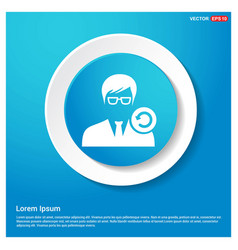 Reload user icon abstract blue web sticker button vector