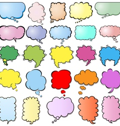set of colored clouds vector image
