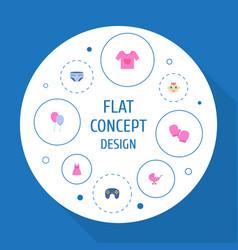 Set of infant icons flat style symbols with joypad vector