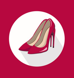 sexy red stiletto shoes for lady template vector image