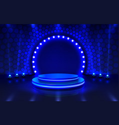 show light stage podium scene with for award vector image