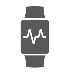 smart watch glyph icon electronic and digital vector image
