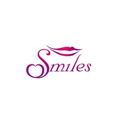 smile lips logo design symbol icon vector image