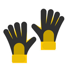 Soccer goalkeepers gloves icon isolated vector
