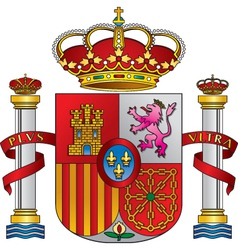 spain royal emblem vector image