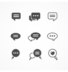 Speech bubble icon set on white background vector image