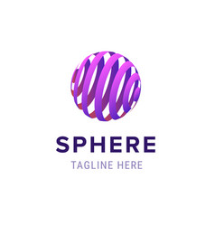 sphere poster and headline vector image