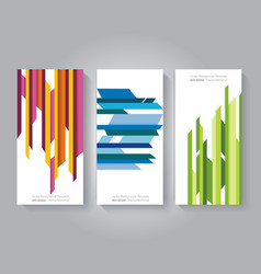 Stripes design templates for banners flyers and vector