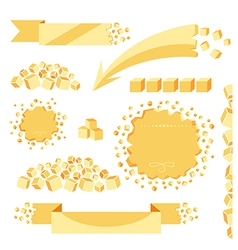 Sugar banners set vector