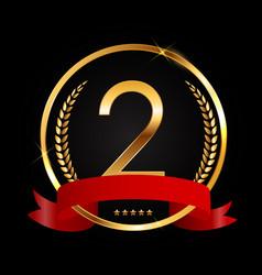 Template logo 2 years anniversary vector