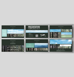 Templates in hd format for presentation slides vector