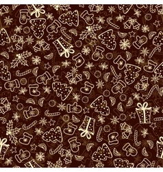 Vintage Christmas Set of Xmas Elements vector image