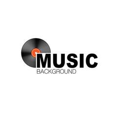 vinyl record symbol company vector image