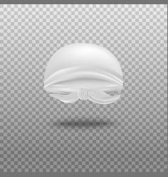 White bandana folded in shape head realistic vector