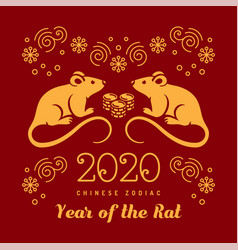 Year rat 2020 chinese zodiac happy new vector
