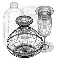 3d pieces vector image