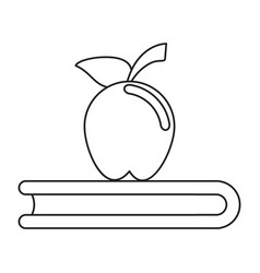 Apple book school symbol thin line vector