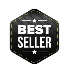 Best Seller black patch vector image vector image