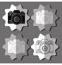 camera icons design vector image vector image